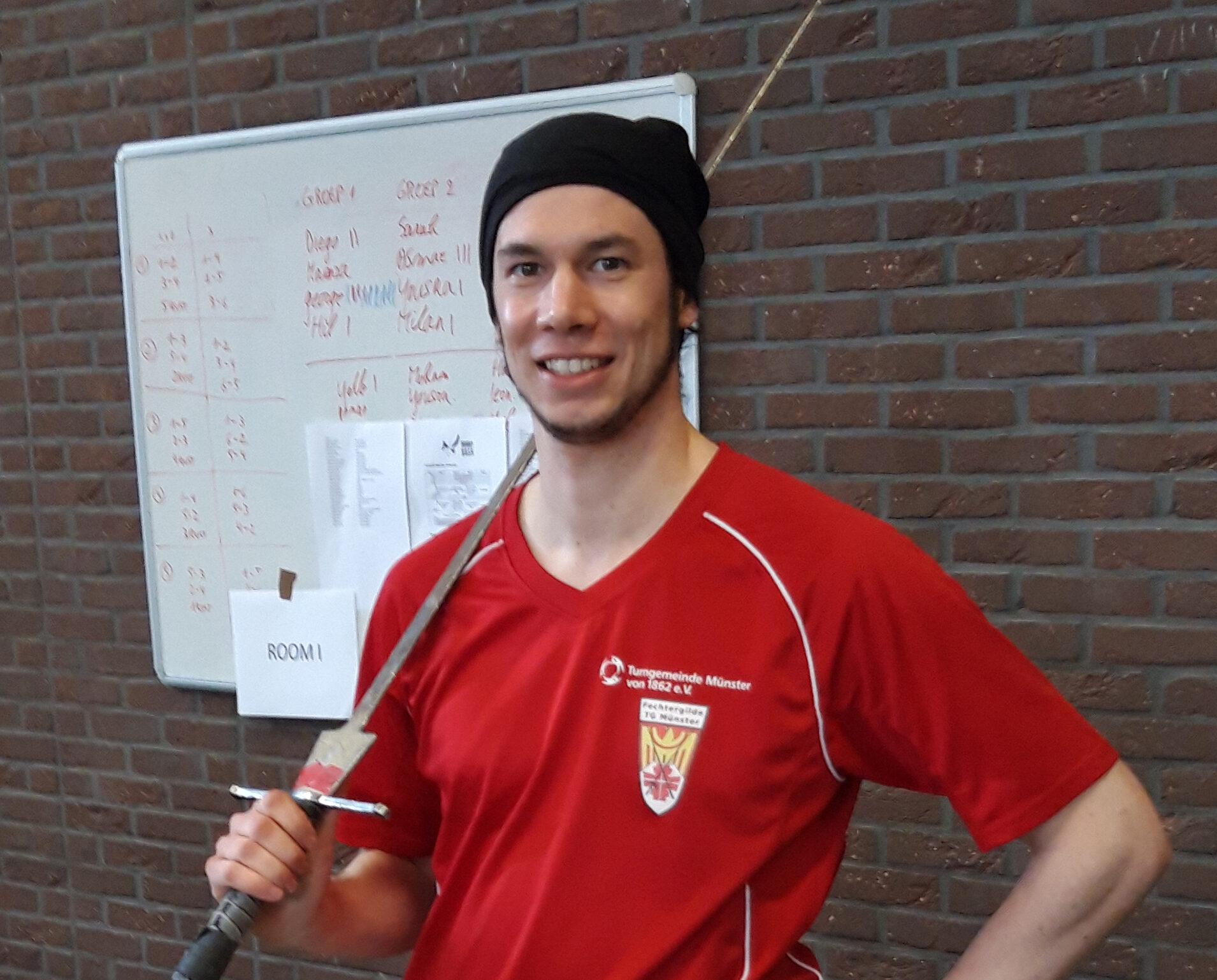 Nicolai Rohmann im Nationalkader Langschwertfechten